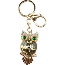 Green eyes owl keychain