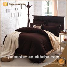 70 / 90GSM sólido color barato cama hoja de la almohada funda de edredón caso