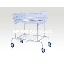 Stainless Steel Hospital Baby Bed