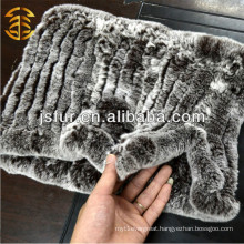 Fashion Design Knitted Designs Genuine Rex Rabbit Fur Scarf