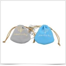 Kundenspezifische Microfaser-Doppelseiten-Tunnelzug-Schmucktasche
