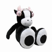 Novelty Bettery-operated Plush Toy with Cow Stereo Speaker