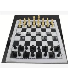 barato piezas de ajedrez de madera decorativas