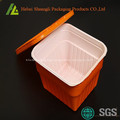 Square plastic food storage boxes with lids