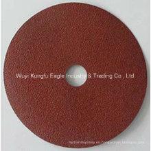 Disco de fibra 5′′ abrasivos aluminio óxido de Metal