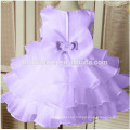 Girl party wear western dress colorful one pcs rose party dress for 2-12 years old girls