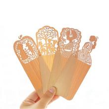 Marca FQ al por mayor patrón tallado marcador de madera personalizado coreano