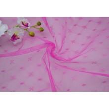 Tissu de moustiquaire tricoté par polyester de Jacquard