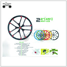 "22"" custom colored bicycle road bike wheel"
