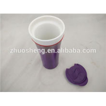 produtos novos quentes para 2015 inox fundo porcelana cerâmica caneca, caneca cerâmica copo