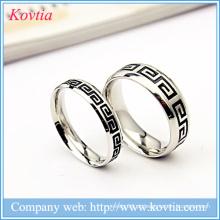 A Grande Muralha design anéis de moda titanium anéis homens 316l jóias de aço inoxidável