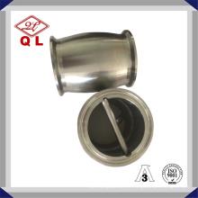 Válvula de retenção sanitária de aço inoxidável tipo bola com ferrolha ambas as extremidades