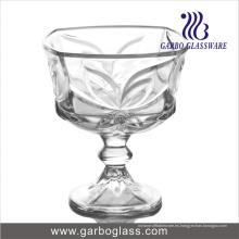Cuenco de helado de vidrio de pie con diseño Bowknot