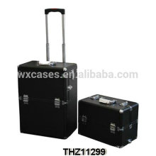 Professional und Luxus Kosmetik Trolley Fälle mit einer Removalbe-Kosmetik-Etui auf der Oberseite