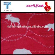ours et cerfs design animal français polyester flanelle de coton terry tissu imprimé en réactif teints