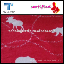 animal design deer and bear french terry cotton polyester flannel printed fabric in reactive dyed