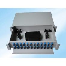 Estrutura de Distribuição de Fibra Óptica de Montagem em Rack Deslizante de 48 Fibras