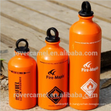Érable en aluminium stockage liquide extincteur randonnée bouteille de stockage de combustible bouteille carburant extérieure