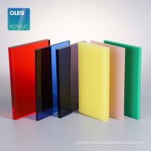 OLEG factory wholesale pmma cast 8x4 feet color acrylic sheet