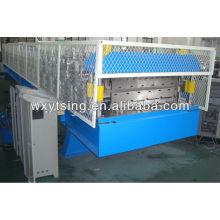 15Kw corte hidráulico automático dupla camada telhado rolo formando máquina / camada dupla fazendo a máquina