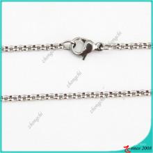 Collar de cadena de plata de acero inoxidable