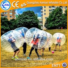 La mejor bola de parachoques del fútbol de la burbuja de la tpu de la calidad, bola de la burbuja para el balompié