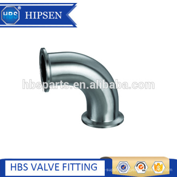 Pipe fittings Sanitary clamp Short 90 degree clamp elbow with straight ends