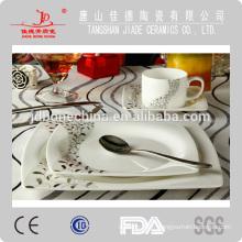 Tasse en porcelaine en porcelaine en céramique 0crockery avec couvercle assiette