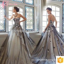 2017 flower girl puffy grey ball gown women jersey evening dress