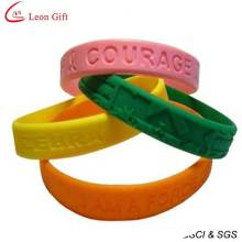 Cheapest Silicone Custom Bracelet for Advertising (LM1626)