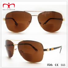 Gafas de sol bifocales del metal de la lente de las ventas calientes (60060)