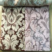 Luxe 100% Polyester Jacquard Blackout Curtain Fabric Malaisie