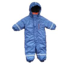 Luz azul overoles impermeables reflectantes con capucha para bebés y niños