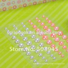 conjunto de perlas de adhensive diseños para scrapbook