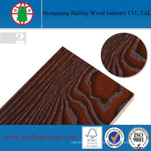 Panneau de bois de mélamine de couleur de grain de bois pour la décoration