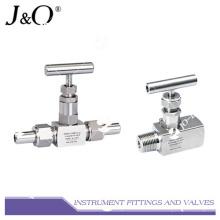 Válvula de aguja para instrumentos de válvula de acero inoxidable de una pieza forjada