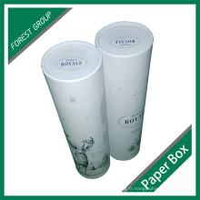 Tube de carton en papier personnalisé avec estampage à chaud pour l'emballage d'une bouteille de champagne
