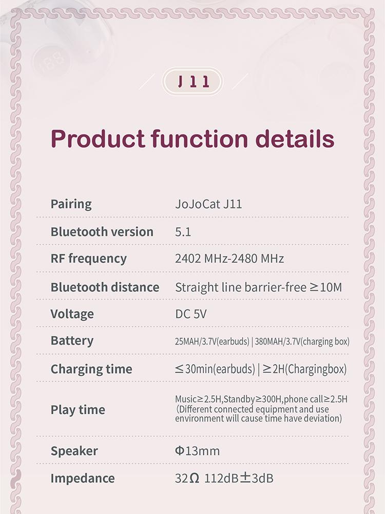 2 J11 Bluetooth Wireless Tws Earbuds 28