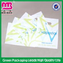 Transparenter biologisch abbaubarer Gewohnheit Druckpoly-stempelschnitt-Tasche für Verkauf