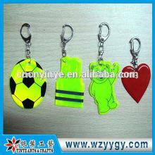 Individuelle PVC reflektierende Schlüsselanhänger