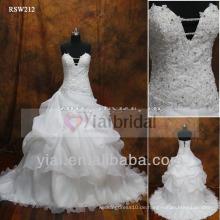 RSW212 Spitze Schlüsselloch zurück Hochzeitskleid