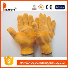 Orange PVC gepunktete Arbeitshandschuh (DKP202)