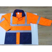 Two Tone Reflective Safety Rain Coat