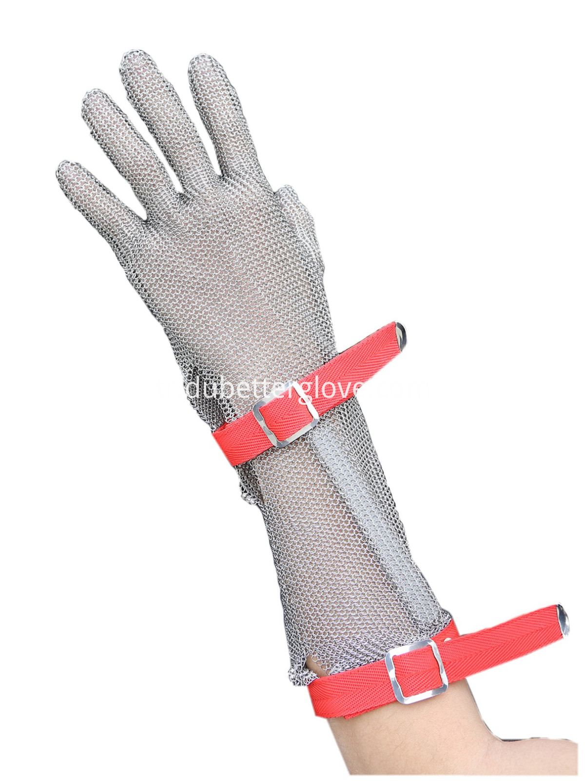 Dubetter steel mesh glove with long cuff