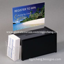 Black Acrylic Suggestion Box with 50mm Thickness