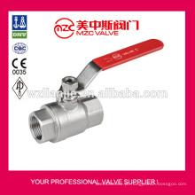 DIN3202-M3 2PC aço inoxidável válvula de esfera rosca extremidades PN63