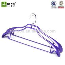 wide shoulder pvc coated metal hangers clothes