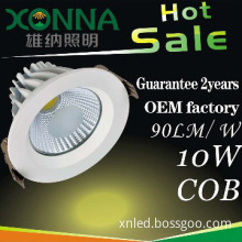0-100% dimmable 10W led down light with CE and Rohs