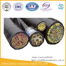 Fio isolado PVC do cabo do núcleo 2.5mm2 do cabo de controle 50 de KVV