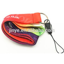 Custom Heat Transfer Printing Cell Phone Strap Lanyard